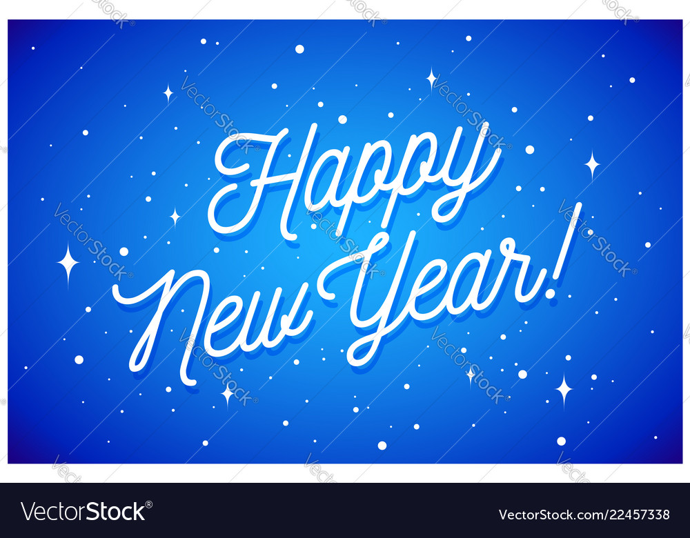 Happy new year greeting card with inscription