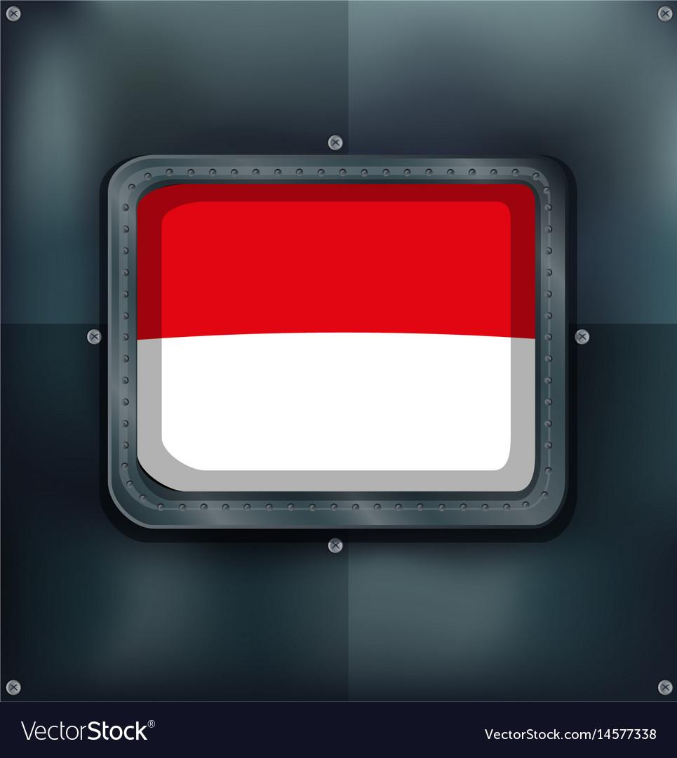 Indonesia flag on metal wall