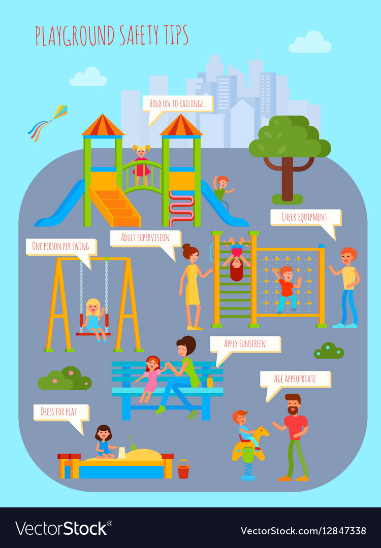 graphic about Free Printable Safety Posters named Playground Security Recommendations Poster
