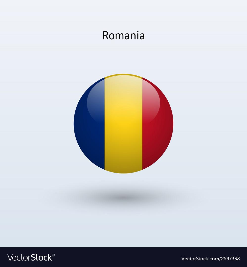 Romania round flag