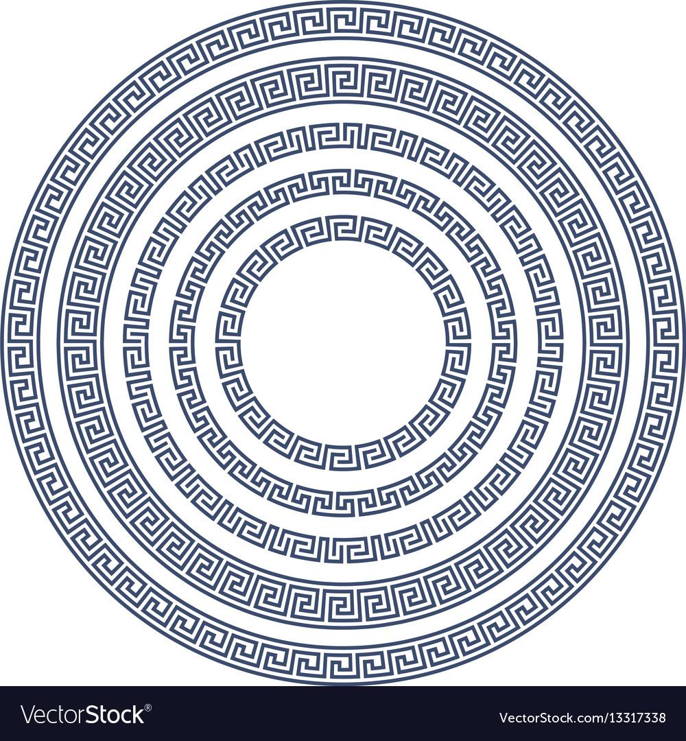 Round frame with greek pattern