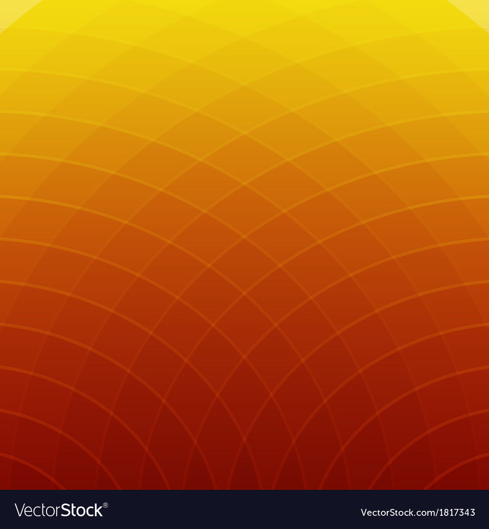 Abstract Orange And Yellow Round Lines Background