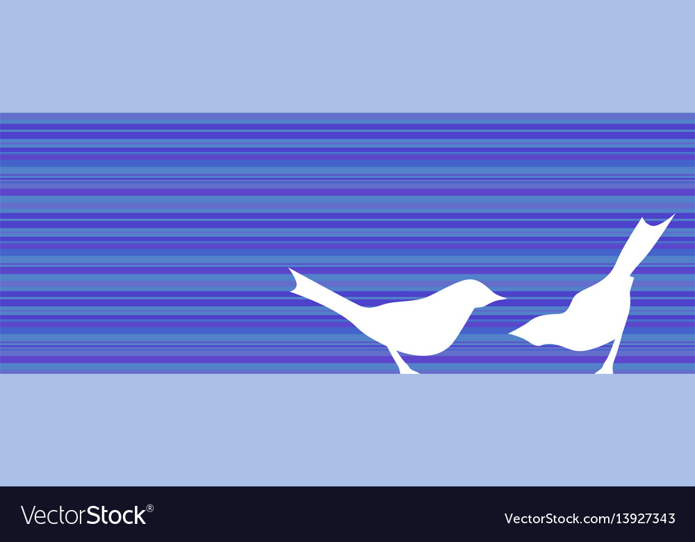 Birds silhouettes banner