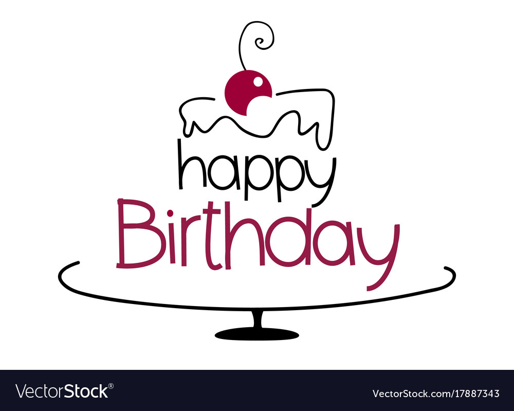 Birthday Cake Drawing Royalty Free Vector Image