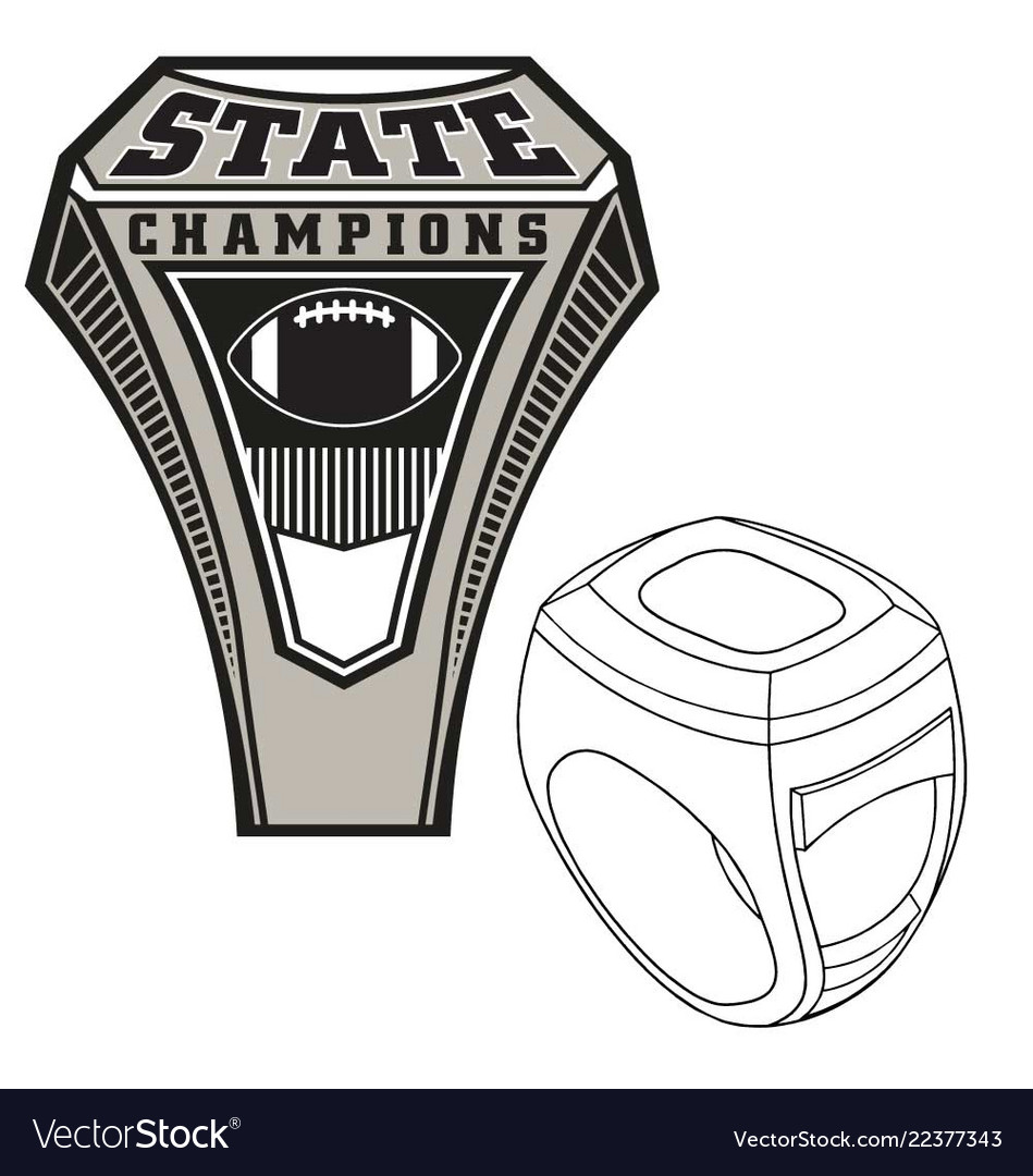 Championship State Ring Vector Image