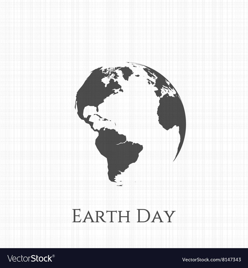 Earth Day Greeting Card Design Royalty Free Vector Image
