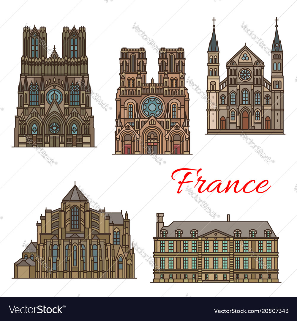 France travel landmarks buildings icons