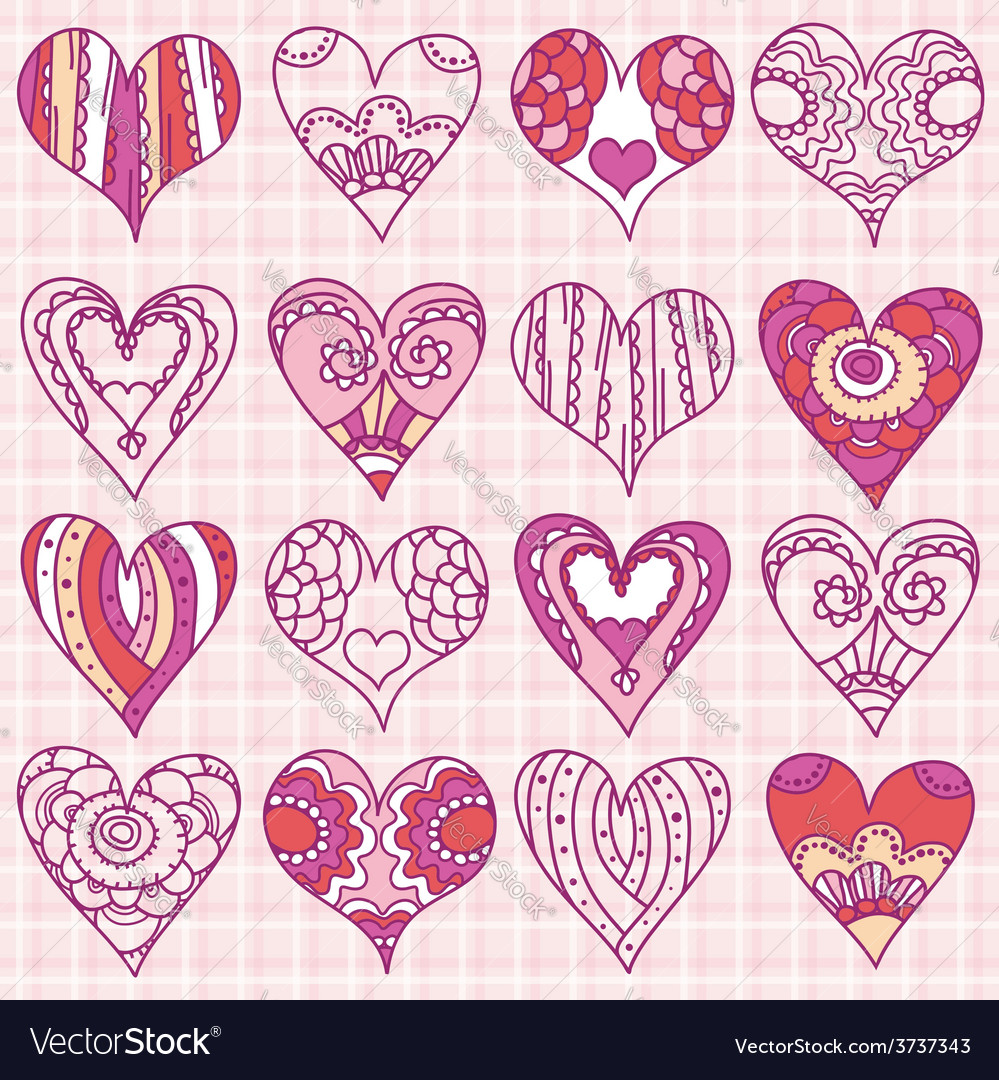 Hand drawing valentines heart