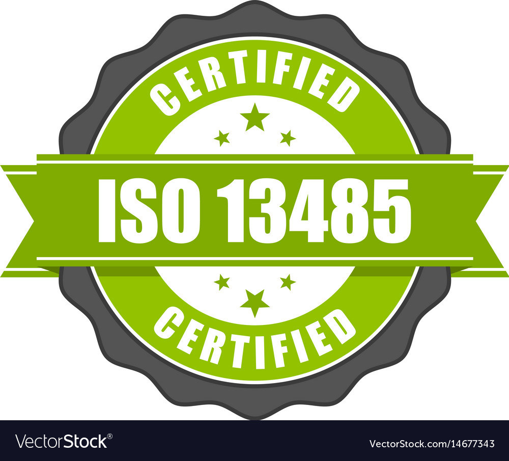 Iso 13485 standard certificate badge - medical