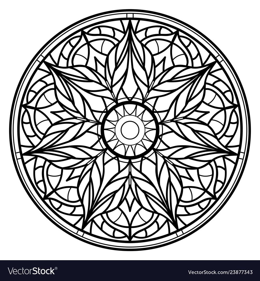 Mandalas for coloring book decorative round