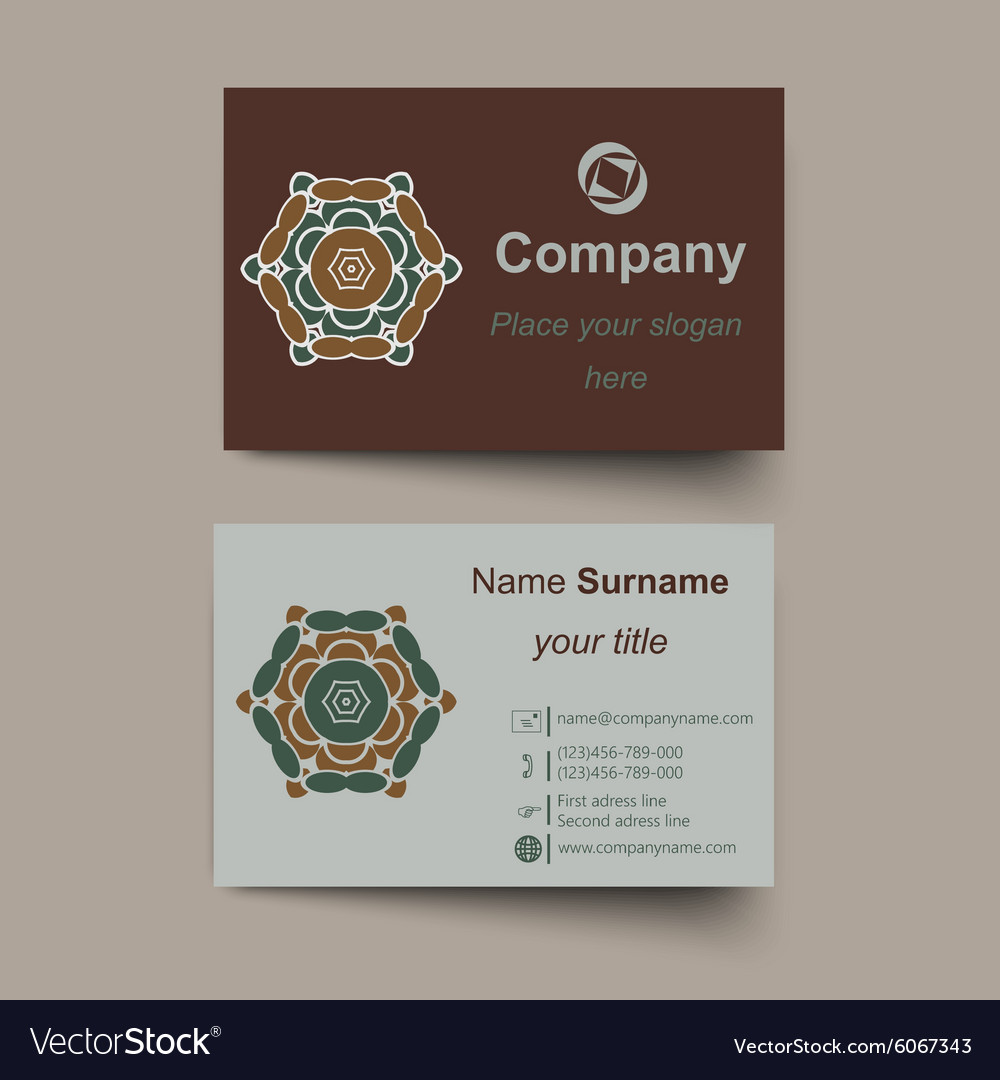 Modern simple light business card template vector image colourmoves