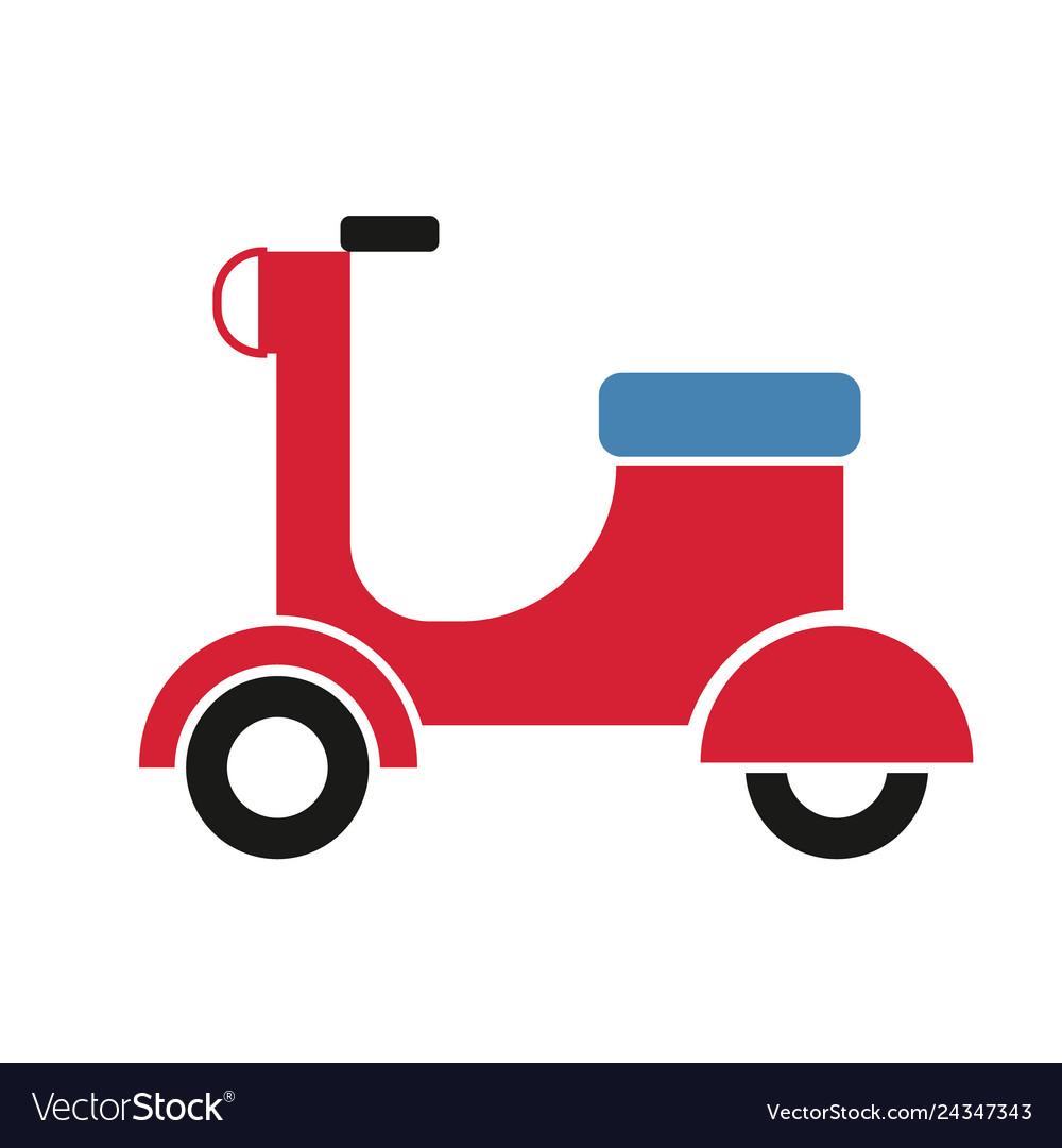 Motor scooter bike simple art geometric