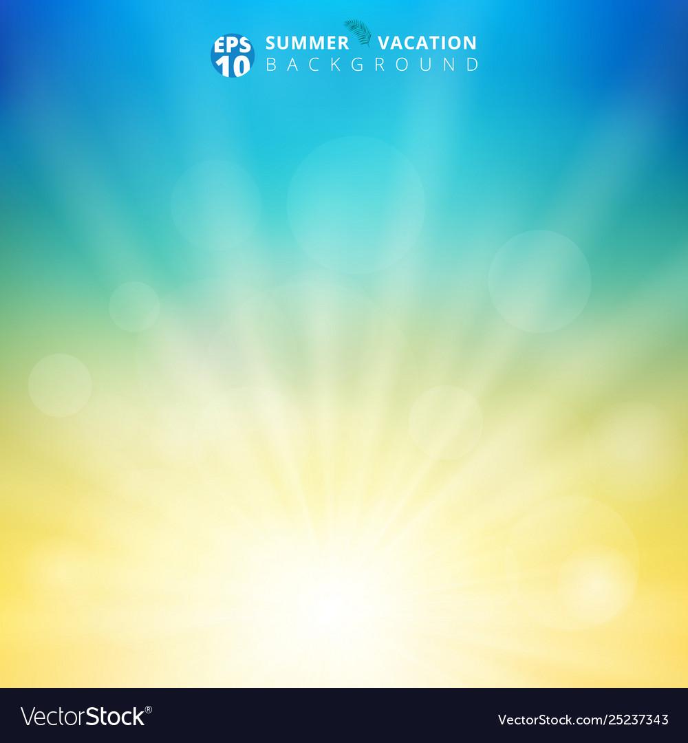 Summer season sunlight with bokeh in sky