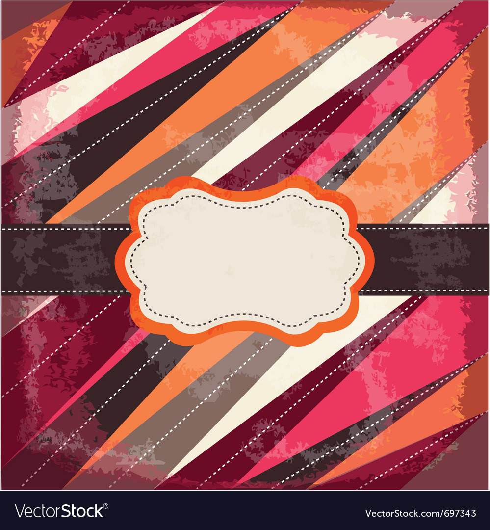 Vintage card with frame vector image