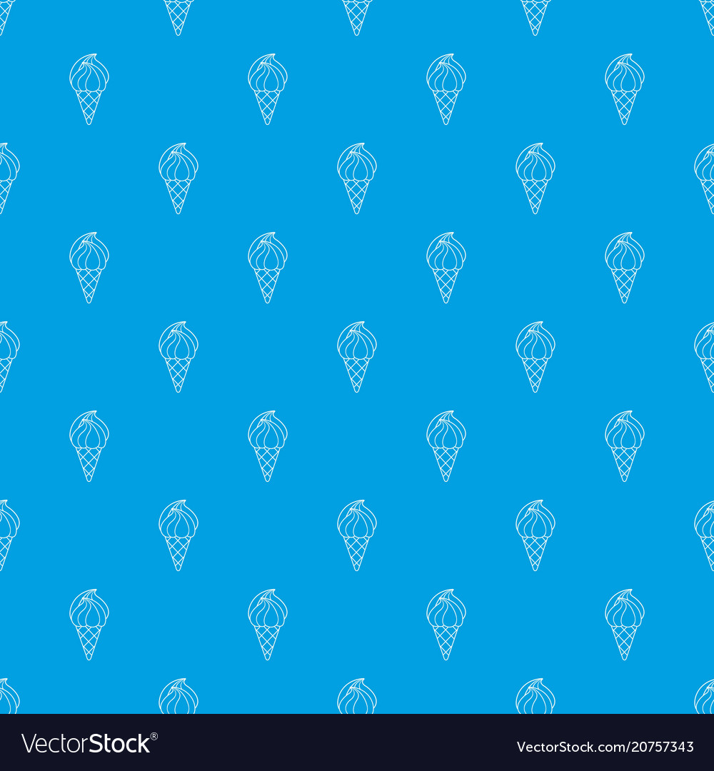 Wafer ice cream pattern seamless blue