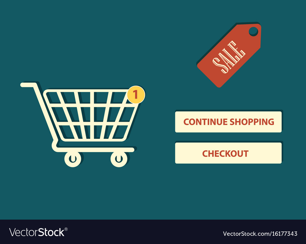 Website page online shopping design vector image