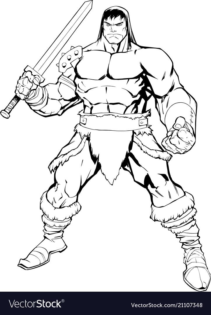 Barbarian on white
