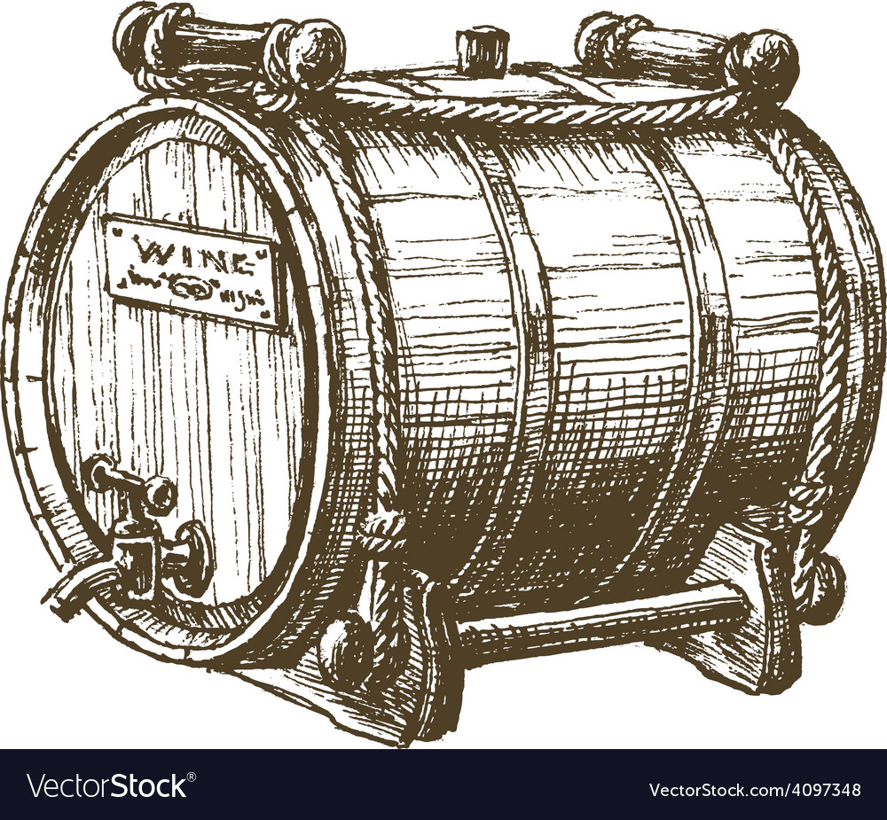 Barrel of wine logo design template beer
