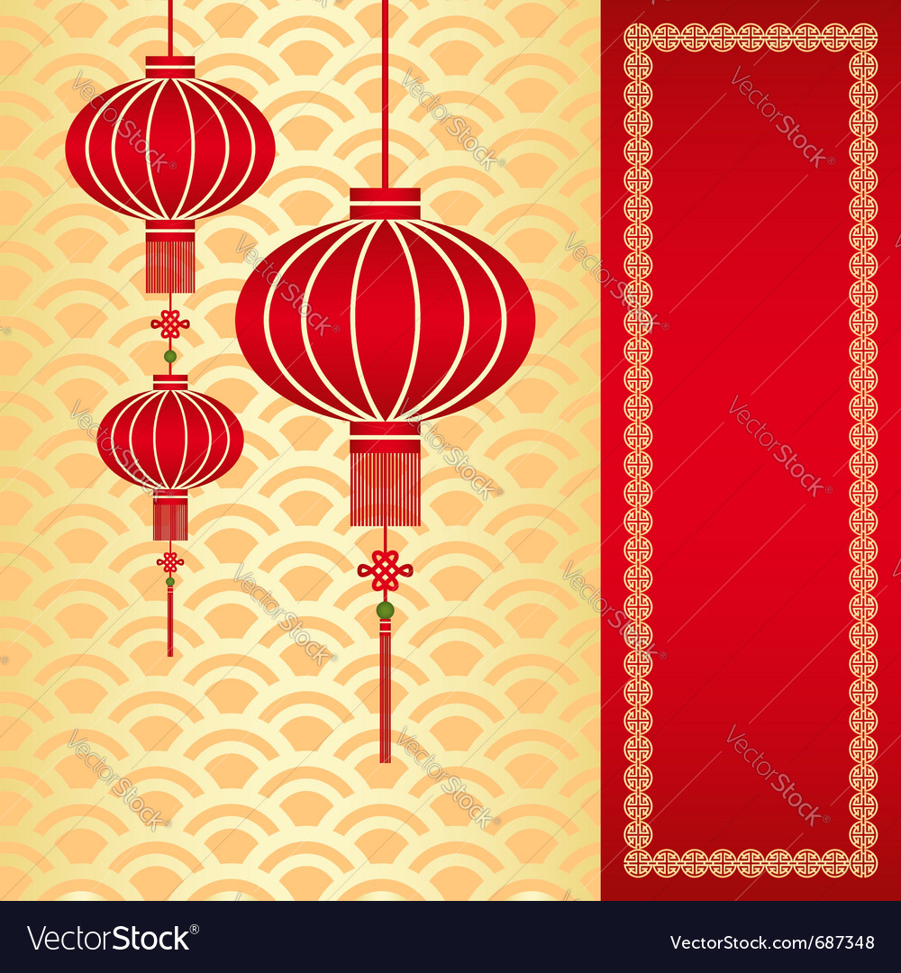chinese lantern royalty free vector image vectorstock