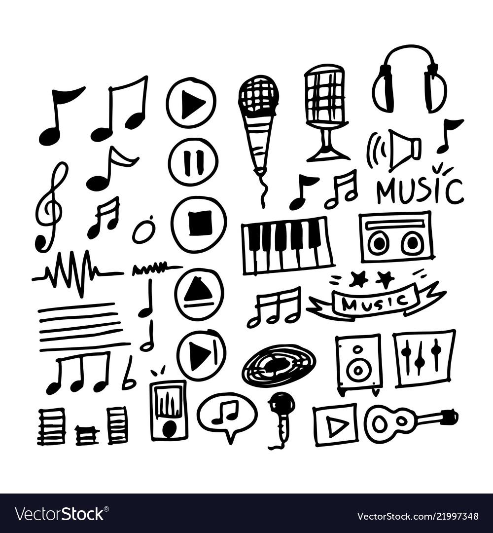 Hand draw music icon