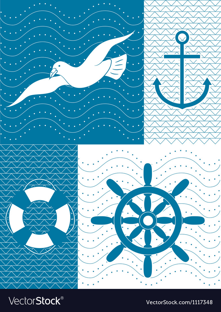 Nautical background vector image