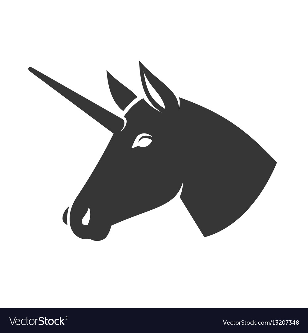 Unicorn head icon logo sign