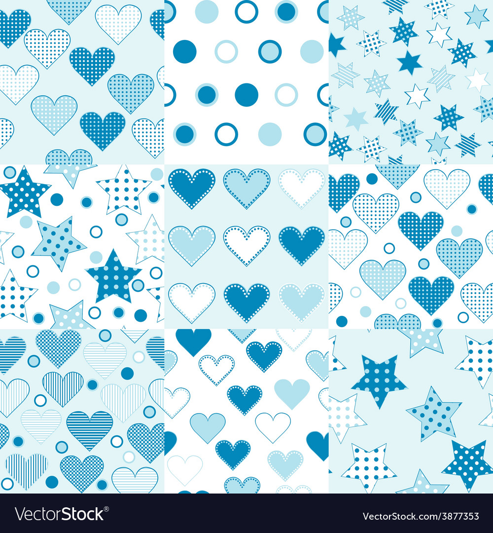 Baby boy seamless background patterns vector image