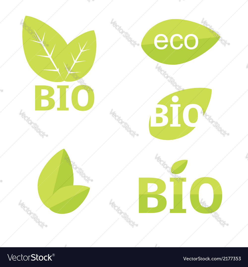 Ecology organic icon set Eco-icons