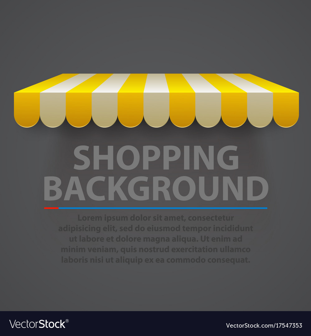 Store striped awning modern background