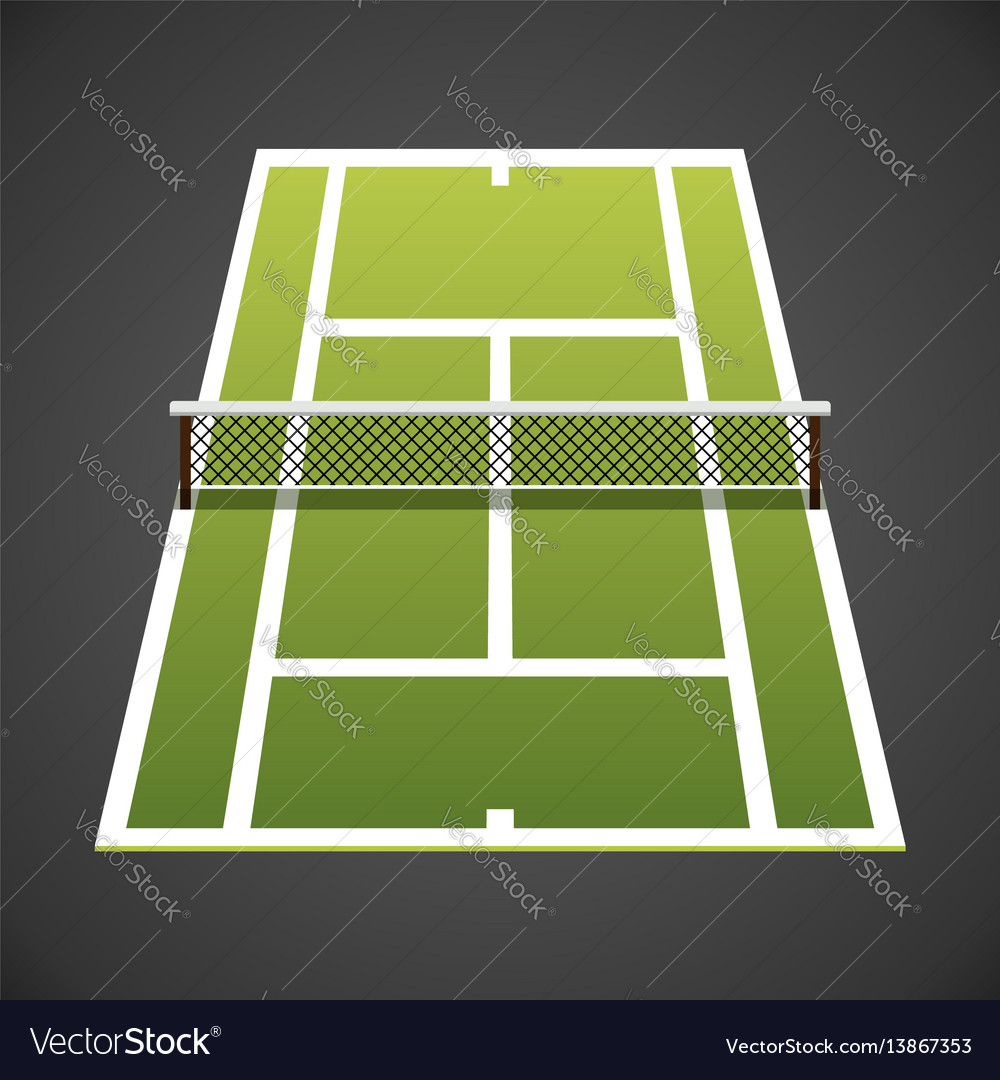 Tennis Court Isometric Royalty Free Vector Image