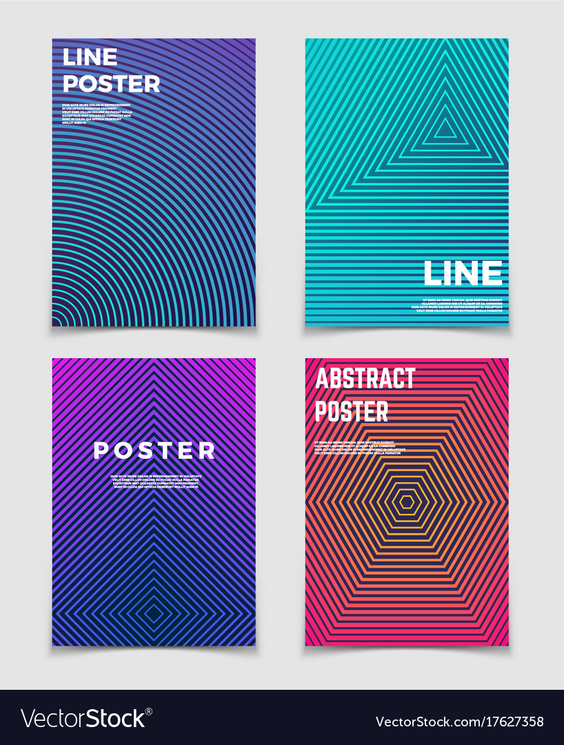 Abstract geometric backgrounds with line