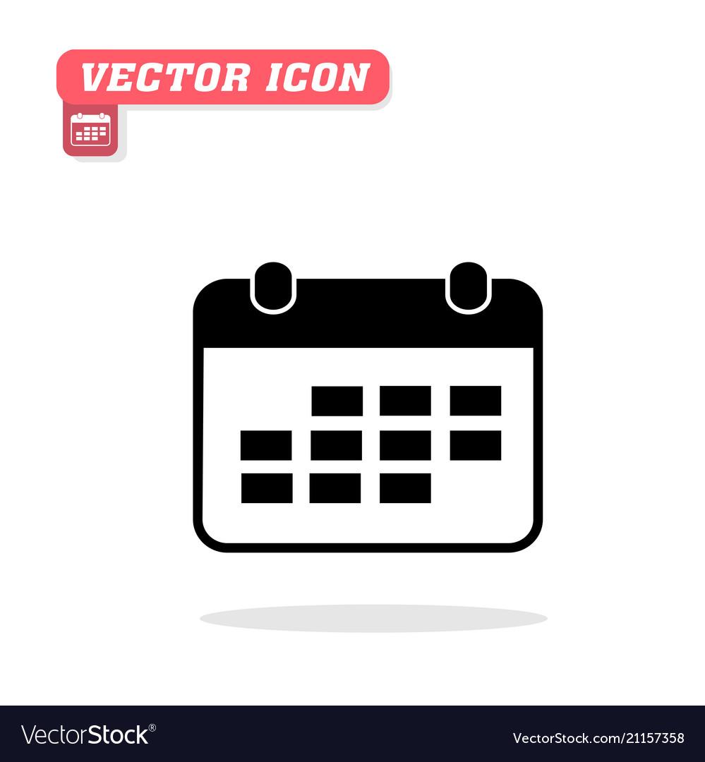 Calendar icon white background image