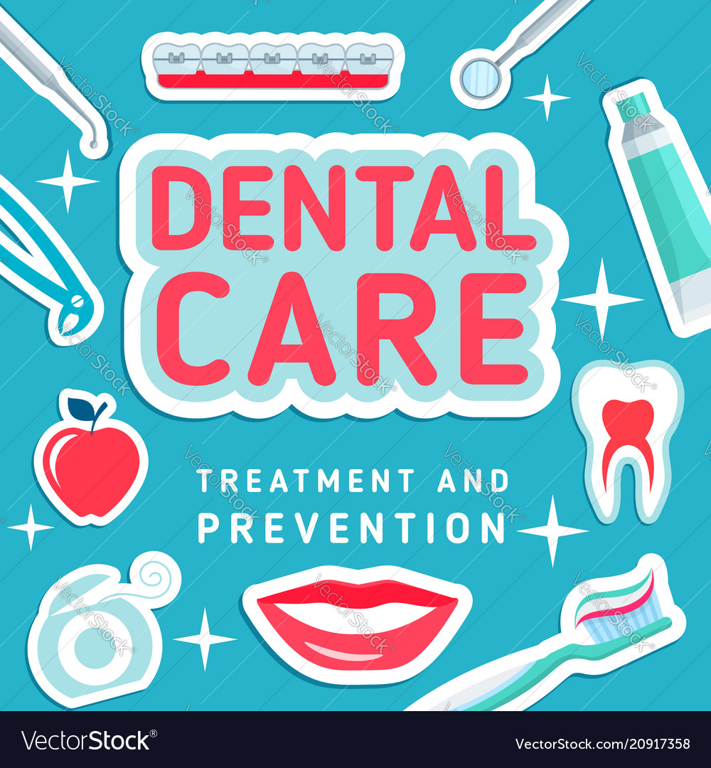Dental care poster