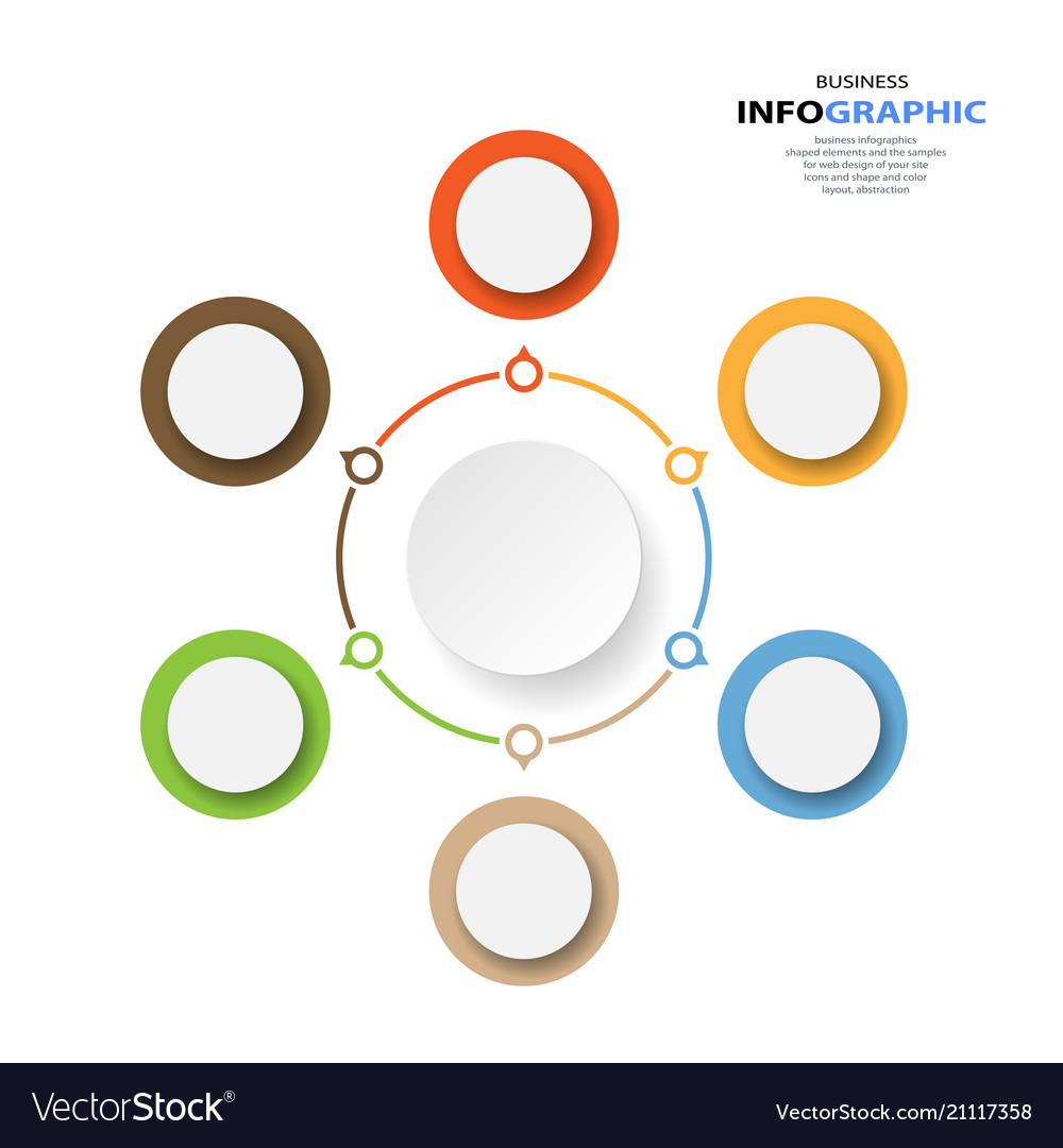 Marketing diagram annual report web design vector image