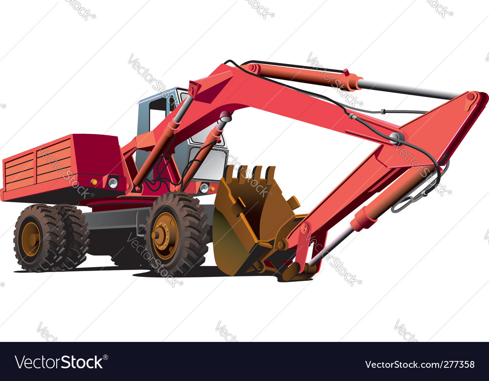 Old-fashioned excavator