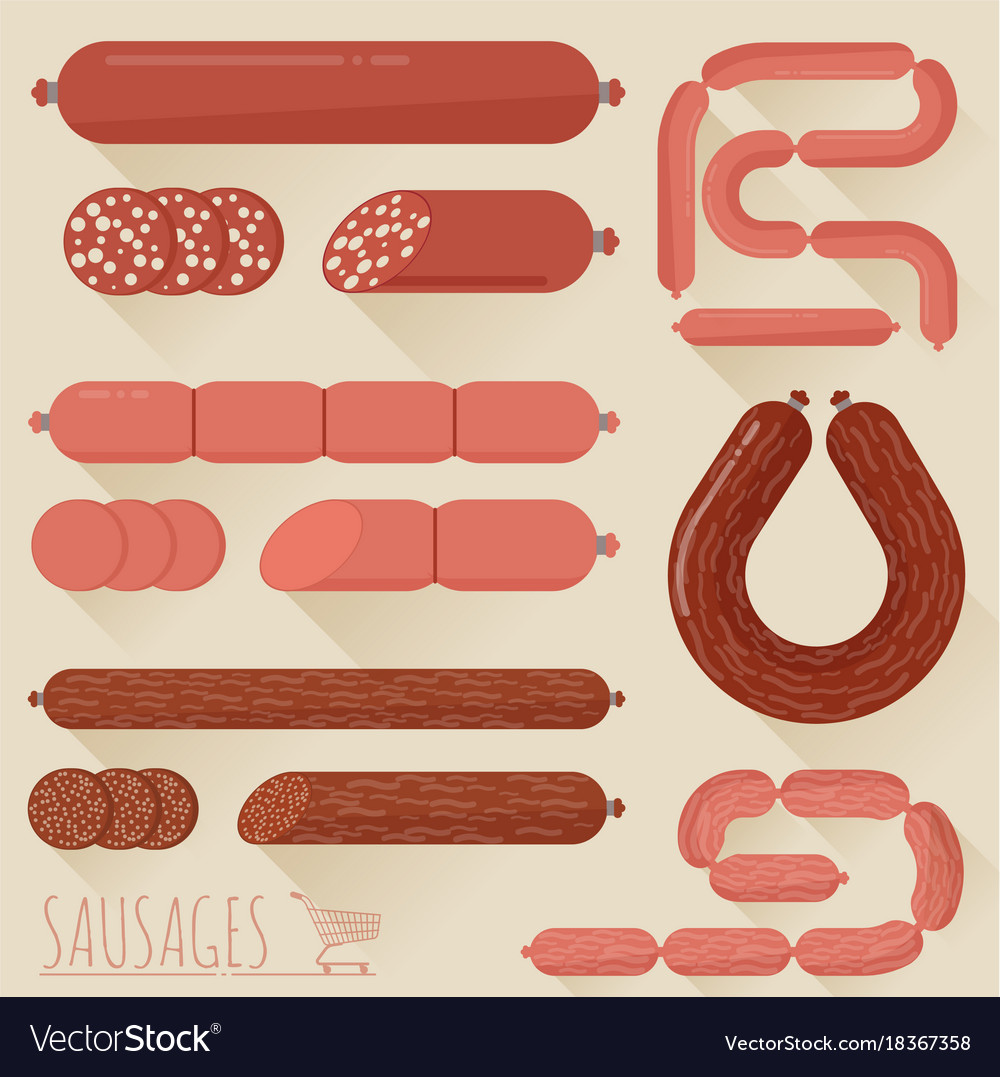 Sausages icon set