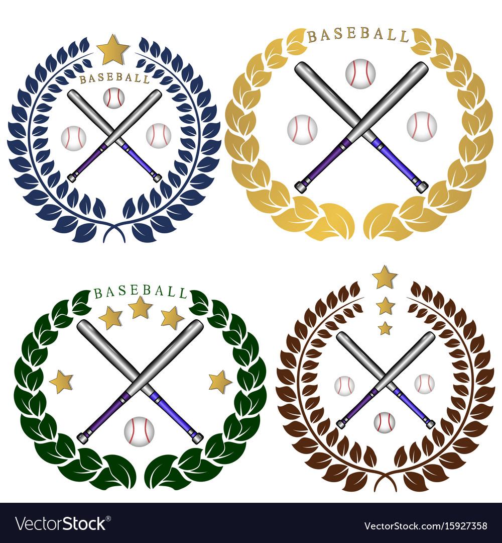 The theme baseball vector image
