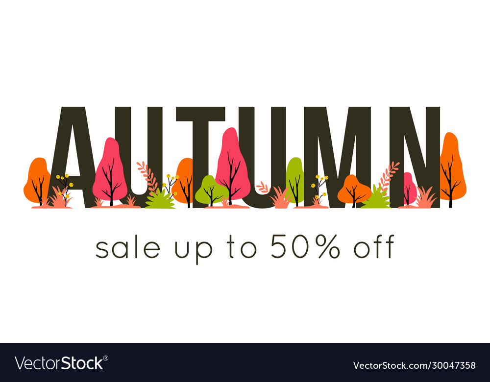 Trendy autumn sale banner for autumnal shopping