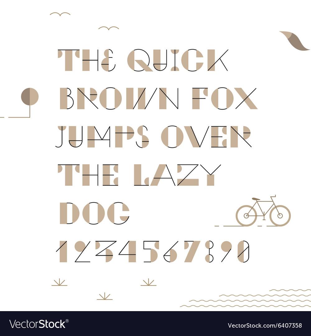 Vintage hipster geometric font