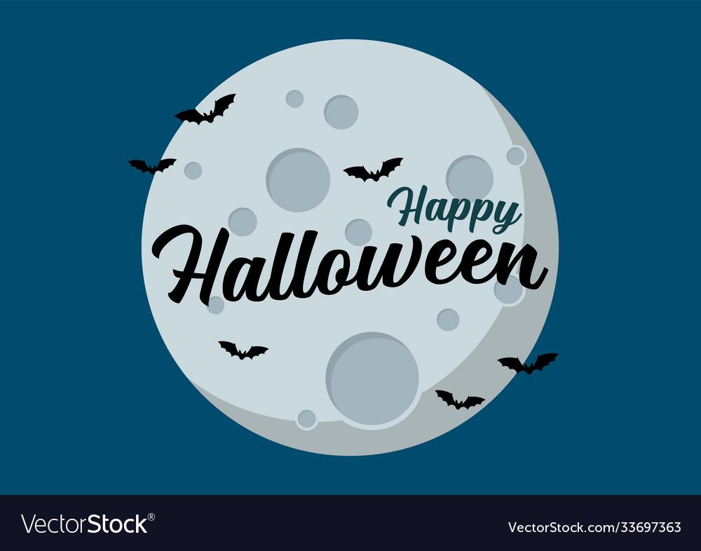 Bats flying over moon