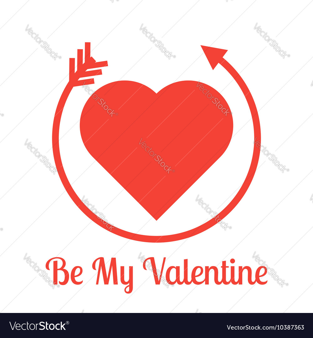 Be my Valentine lettering