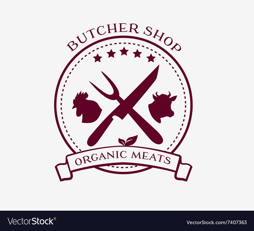 Butcher Shop Design Elements Labels Badges Logo