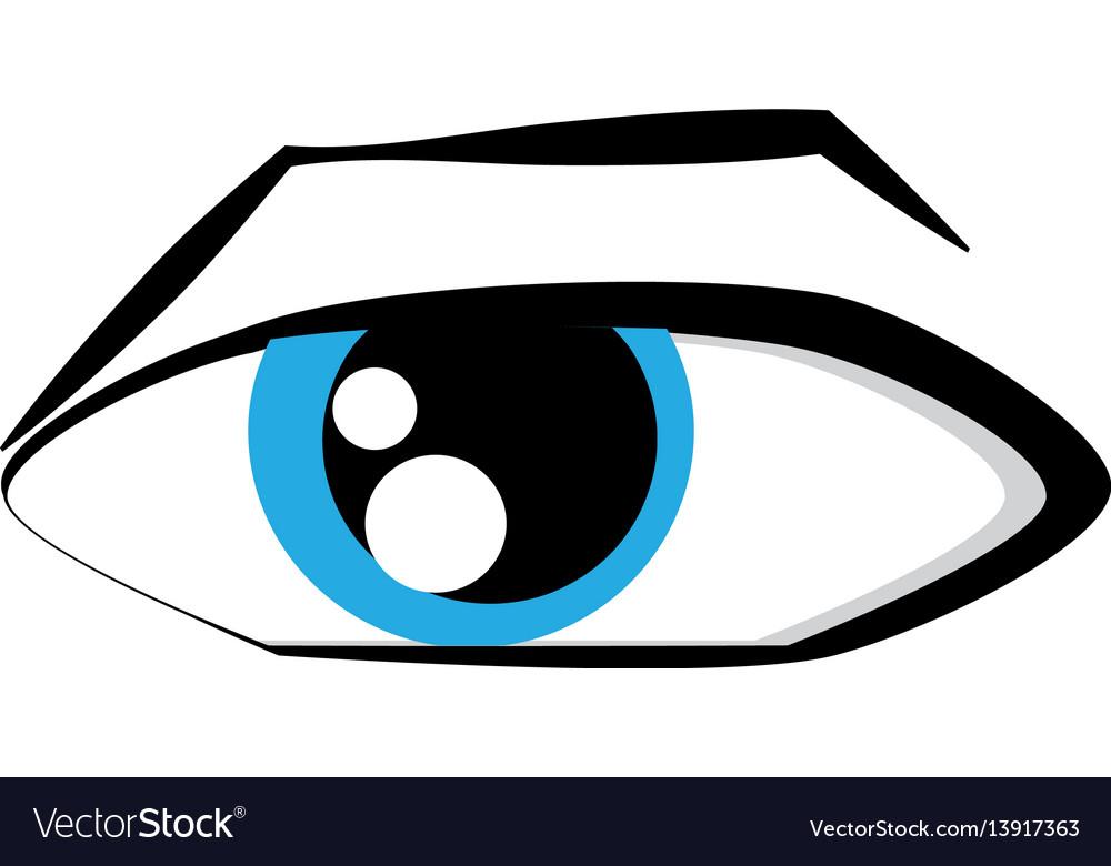 Cartoon eyes comic expression