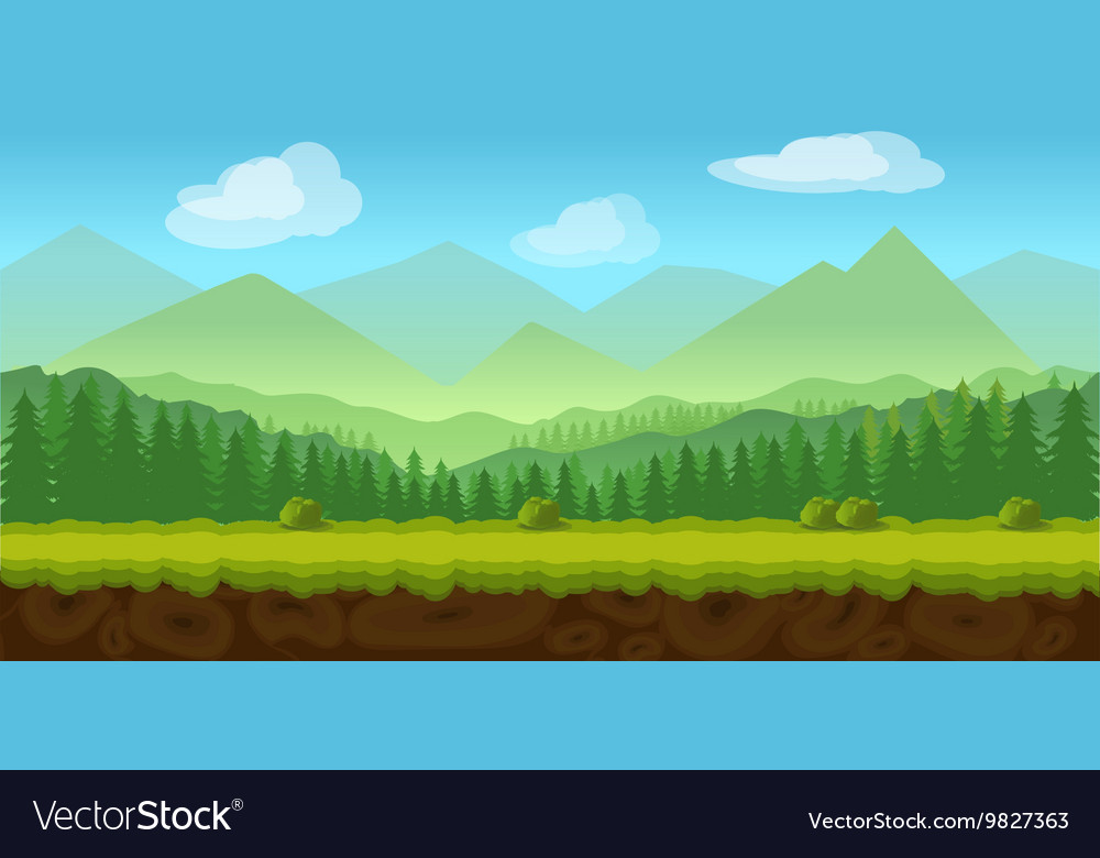 Forest Game Background 2d Application