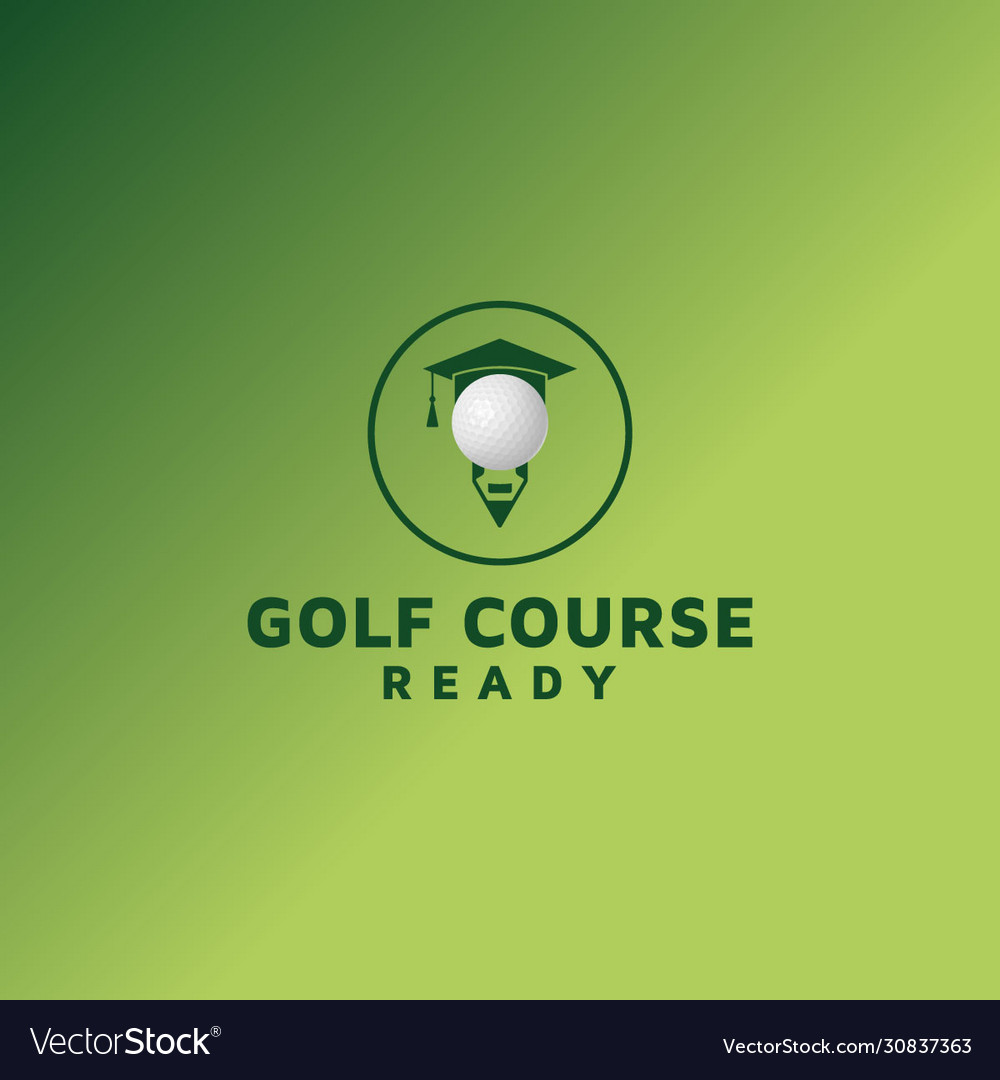 Golf Course Logo Design Element Royalty Free Vector Image