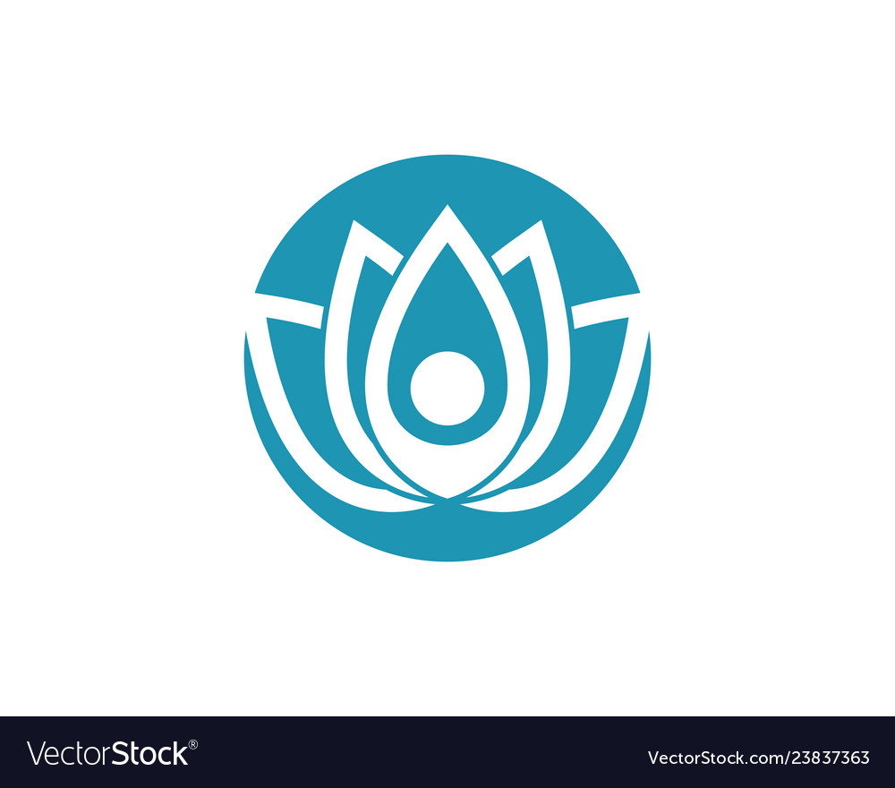 Lotus flowers design logo template icon