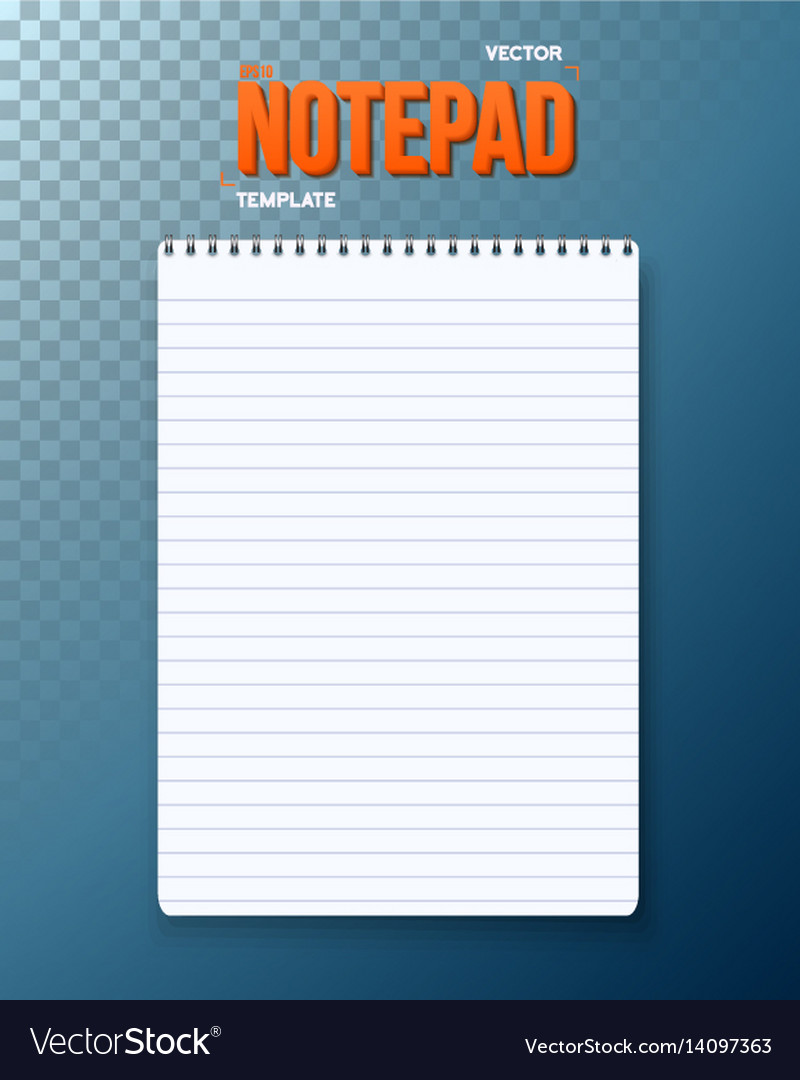 Notepad notebook template