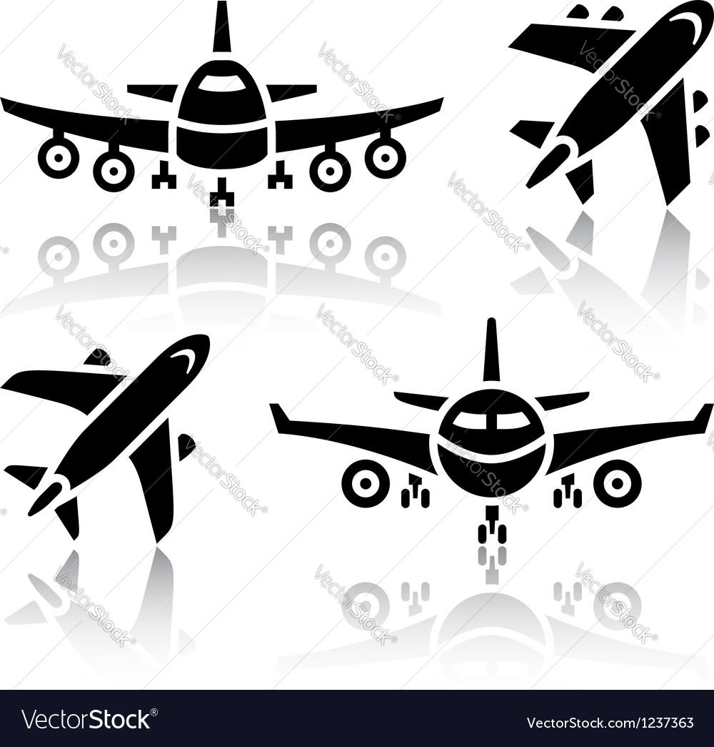 Set transport icons - plane