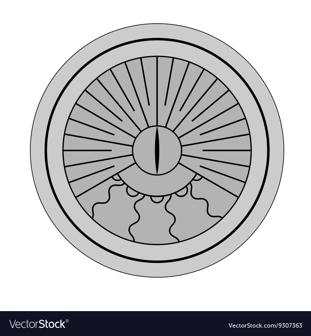 Sundial isolated silhouette vector image