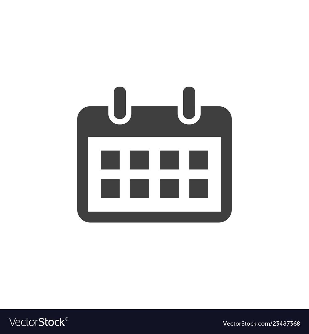 Calendar icon graphic design template